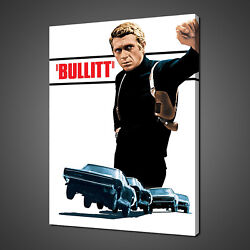 Steve Mcqueen Bullitt Canvas Print Picture Wall Hanging Art Free Delivery