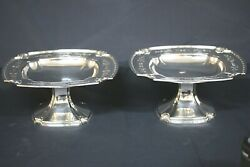 Theodore B Starr Inc Sterling Silver Compotes, Early 1900's, 7074a, Set Of 2