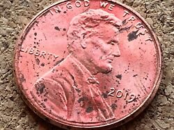 2019 Lincoln Shield Penny Cent Die Chip Error Uncirculated