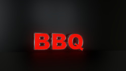 3pc Bbq Led Black Side Panels Storefront Sign Complete And Ready To Install