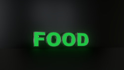 4pc Food Led Black Side Panels, Storefront Sign, Ready To Install