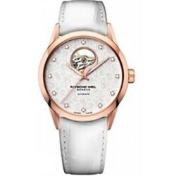 Raymond Weil White And Rose Gold Freelancer Ladies Watch 2750pc530081