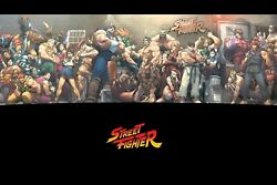 Street Fighter Characters Poster Wall Decor Photo Print 16x24 20x30 24x36