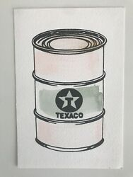 Beejoir Texaco Oil Can Limited Edition Hand Finished Miniprint Banksy Interest
