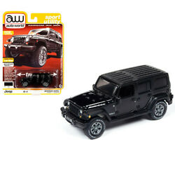 AUTOWORLD 1 64 2018 BLACK JEEP WRANGLER UNLIMITED RUBICON CAR 64242 AWSP033 B