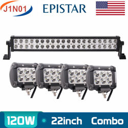 22inch 120w Led Light Combo Bumper Offroad Atv Driving 4wd+4x 4 18w Truck Lamp