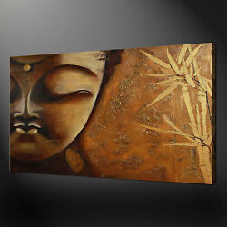Bamboo Buddha Canvas Wall Art Pictures Prints Free Fast Uk Delivery