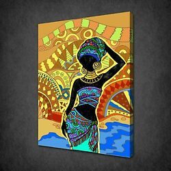 African Lady Canvas Print Picture Wall Art Variety Of Sizes Available