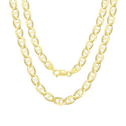 14k Yellow Gold Solid Mens 7.5mm Anchor Mariner Link Chain Necklace 26