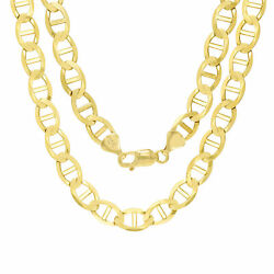 10k Yellow Gold Solid Mens 9mm Anchor Mariner Link Chain Necklace 30 30in