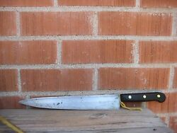Vintage 11 Blade Landers Frary And Clark Carbon Steel Xxl Chef Knife Usa