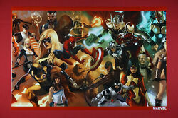 Marvel Characters Iron Man Thing Wolverine Spider-man Thor Poster 24x36 New Mvcc