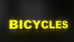8pc Bicycles Led Black Side Panels Storefront Sign Complete And Ready To Install