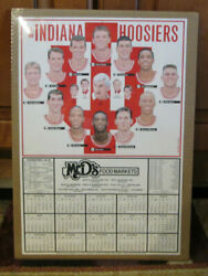 Rare 1993-94 Indiana Hoosiers Basketball Schedule Bobby Knight Shrink Wrapped