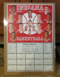 Rare 2000-01 Indiana Hoosiers Basketball Schedule Mike Davis Shrink Wrapped