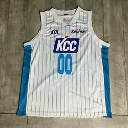 Rare Kcc Egis Terrence Leather 00 Game Used Kbl Jersey Korean Basketball League