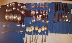 Reed And Barton Classic Rose Sterling Silverware Set