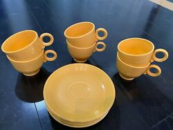 Vintage Fiesta Pottery- Yellow Genuine Hlc Made In Usa 1930and039s-1960and039s Lot- 41pc.