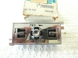 1968 1969 Cadillac Power Seat Switch Right Side 60/40 Seat 20099301 Nos