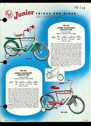 1950's Amf Junior Trikes And Bikes Roadmaster 606 616 614 624 Dealer Sheet Page