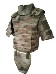Body Armor Plate Carrier Atacs-au Molle Tactical Vest Full 3a Kevlarr Included