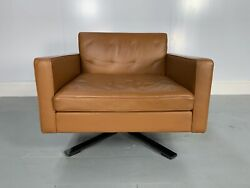 Rrp Andpound4500 - Rare Immaculate Poltrona Frau Kennedee Armchair In Tan Brown P...