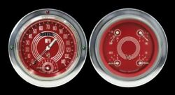 V8 Red Steelie 54-55 Chevy Pu W/speedtachular - Classic Instruments - Ct54v8rs62