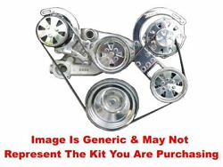 Vips - Turbo Trac Serpentine System - Ls - Polished W/ Power Steering