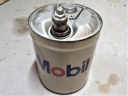 Vintage Mobil Oil Five Gallon Can. Oil Can