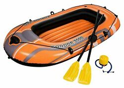 Bestway Kondor 2000 Hydro-force Raft Set Inflatable Beach Boat With Oar And Pump