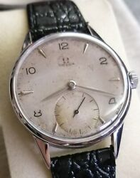 Omega Vintage Small Seconds Manual Winding Cal 266 1950s Jumbo Size