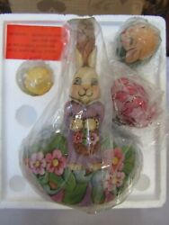 Vintage Jim Shore Heartwood Creek Basket And 5 Critter Eggs For The Love Of Easter