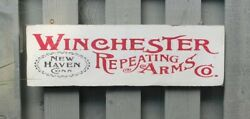 Vintage Winchester Gun Sign - Repeating Arms Co. - Replica Trade Sign