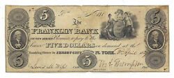1827 Franklin Bank Of New Jersey, Jersey City, Nj - 5 Note No.131 - 05739