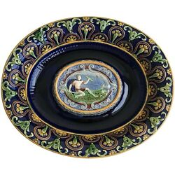 Original And Rare Minton Majolica Stand / Under-plate, Modelled By Hamlet Bourne