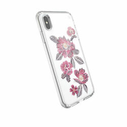 Lot Of 100 Speck Presidio Case Iphone Xs Max Embridered Floral Fuchsia Clear