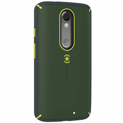 100-pack Speck Mightyshell Case Motorola Droid Turbo2 Dusty Grn Yellow/charcoal