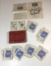 Antique Parker Brother Pit Card Game Bull And Bear Edition 63 1903-1904