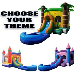 Pogo Kids Inflatable Bounce House Slide Pool And Blower Backyard Wet/dry Combo