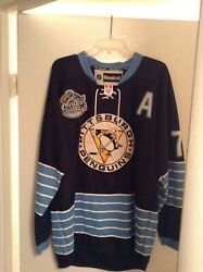 Evgeni Malkin Blue Winter Classic Jersey Sewn With Patches Sz. 54