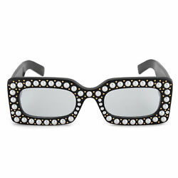Gucci Hollywood Forever Rectangular Sunglasses GG0146S 001 50