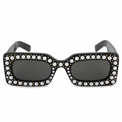Gucci Hollywood Forever Rectangular Sunglasses GG0146S 002 50