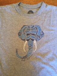 Life Is Good Men's Crusher Crew-Neck T Shirt Elephant Size S Small Gray Soft $14.00