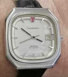 Very Rare Omega Constellation Cal 1012 Vintage Date Chronometer 1960s 37 Mm
