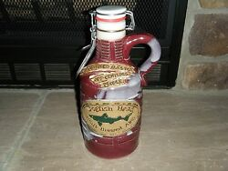 1/2 Gal 64 Oz Dogfish Head Hand Crafted Ceramic Growler Limited 392 Red Rare