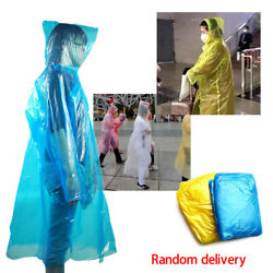 20*Disposable Anti-Droplets Emergency Waterproof Rain Coat Protective Suit Lot