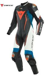Jumpsuit By Bike With Airbag Dainese Misano 2 D Air Perf. 1pc Suit 54a