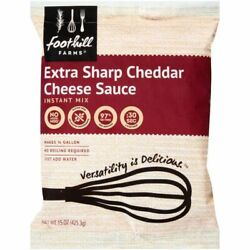 Foothill Farms Sharp Extra Chedder Cheese Sauce Instant Mix 15 Oz 16 Per Case