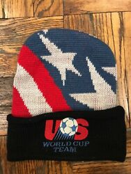 Vintage Adidas Usa Soccer World Cup Team Beanie Knit Hat 80s 90s