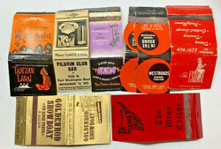 Lot Of 9 Theatres Hotels Matchcover Matchbook The Esquire Showboat Papeete Bar